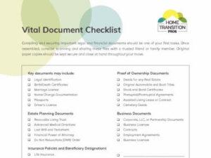 vital documents checklist